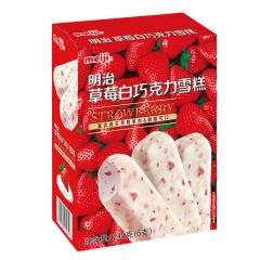 【京东伙伴计划—仅限积分兑换】明治(meiji)草莓白巧克力雪糕 245g(6支)