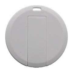 U盘定制 创意广告U盘空白圆形卡片优盘 创意客户礼品