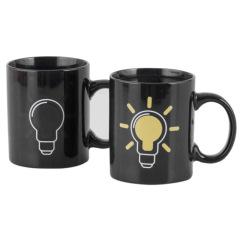 morning mug电灯泡趣味变色杯 350ml陶瓷礼品杯 节日礼品推荐