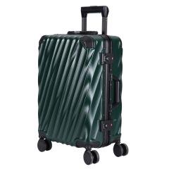 高档斜纹铝框拉杆箱 20寸可登机防刮行李箱 创意商务礼品