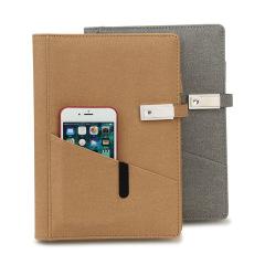 智美环球 斜插袋16G U盘移动电源笔记本 客户会议礼品