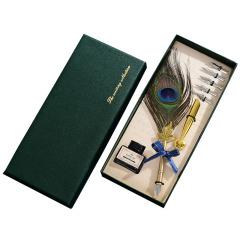 復古羽毛蘸水筆禮品套裝 珍貴羽毛美工筆尖裝 創意商務禮品