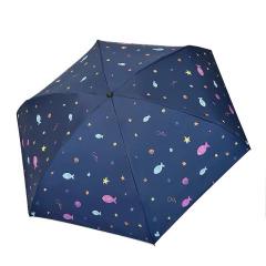 天堂伞 可以装进口袋的泰迪熊五折黑胶伞遮阳伞防紫外线晴雨两用伞小巧便携 公司活动小奖品