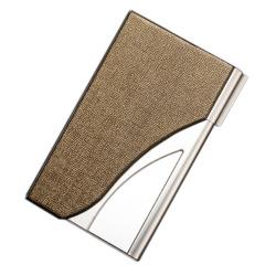 流线型甲骨纹百搭商务名片盒 创意设计名片夹礼品定制