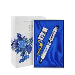 青花瓷 复古礼品套装 U盘+笔两件套礼盒 公司活动奖品买什么好