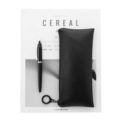 黑白系列多功能文具袋 大容量PU皮筆袋 創意商務辦公禮品