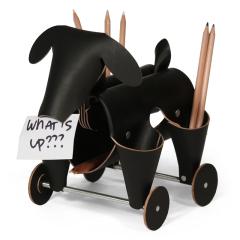 阿根廷进口 Vacavaliente创意狗狗多功能皮革收纳摆件-黑色