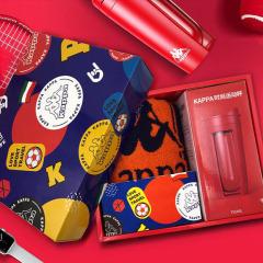 Kappa意大利背靠背 時尚運動杯 + 222 BANDA系列短款禮盒 中秋送什么給客戶好