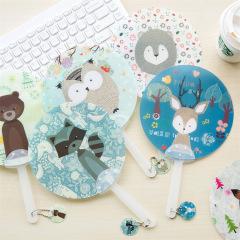 森林小动物系列小扇子 结实耐用大小迷人 促销活动的小礼品