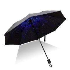 【星空】外黑胶晴雨伞 三折防嗮遮阳伞 折叠晴雨两用伞 广告宣传礼品