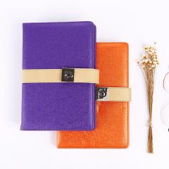 变色皮料皮笔记本2018效率手册创意可收纳卡包多功能笔记本 员工福利礼品定制