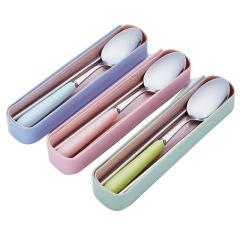 陶瓷不锈钢筷勺套装 环保健康安全实用 展会小礼品什么比较好