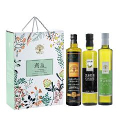黄金搭配 全家福礼盒 百灵鸟亚麻籽油+特级初榨橄榄油+黄金树芥花籽油 送礼送什么比较好