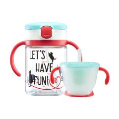 利其尔(Richell)透透吸管学饮杯200ml+150ml进阶式套装杯 母婴店活动赠品