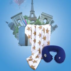 SOFTNIE 创意旅行套装 毯子+充气U型枕礼盒 比赛奖品定制