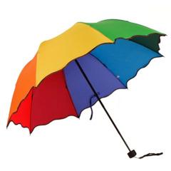创意折叠公主雨伞 荷叶边拱形彩虹伞 阿波罗雨伞广告