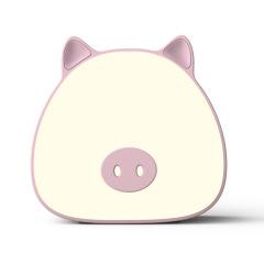 创意卡通萌猪小夜灯 充电触摸感应台灯 日常实用的礼品