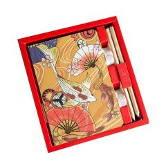【扇子锦鲤】手账本+12色彩铅+2卷纸胶带 特色设计 奖励礼品