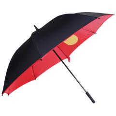 全纤维双层高尔夫口袋伞 创意个性超大防风8骨直柄伞