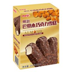 【京东伙伴计划—仅限积分兑换】明治(meiji)巴旦木巧克力雪糕 42g*6彩盒 冰淇淋