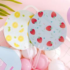 西瓜柠檬夏日水果小扇子 手持摇扇广告扇 小学生最喜欢的小奖品
