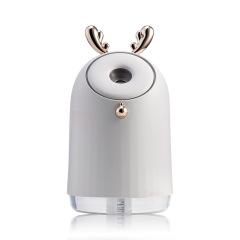 创意补水精灵加湿器 桌面 卧室充电喷雾器 带七彩夜灯卡通空气净化器 冬天送什么礼品给客户