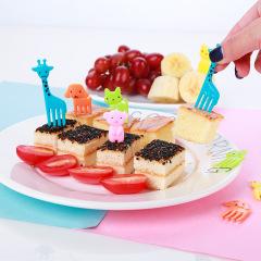 兒童卡通動物水果叉 各種小動物集合 不易斷裂安全衛生 餐飲送顧客禮品有哪些選擇