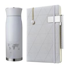 【NANV】大号 商务礼品五件套  保温杯+签字笔+笔记本+书夹+书签(大号)  精致礼品