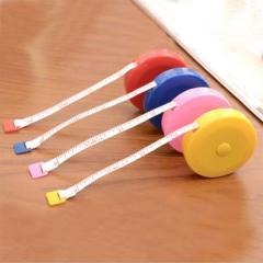 糖果色迷你伸缩小卷尺(1.5米) 受欢迎的小礼品