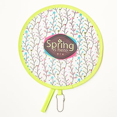 卡通折叠便携圆形小扇子--春之花藤