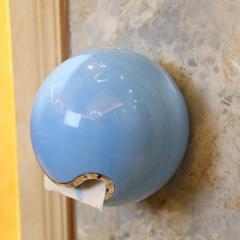 创意歪星人粘贴式纸巾盒--蓝色