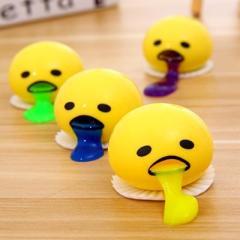 呕吐蛋黄哥捏捏乐减压玩具--黄色 儿童节礼品