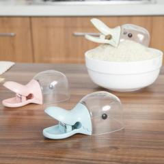 创意鸭头造型多功能米铲 封口夹--蓝色 礼品创意公司