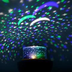 魔钻可旋转三色切换LED浪漫星空投影灯--白色