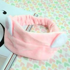 可爱猫耳朵洗脸美容束发带--粉色