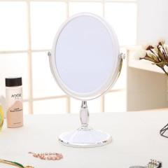 台式三倍放大8寸双面化妆镜 椭圆形--白色(大号)
