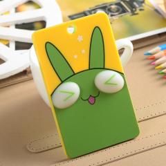 超萌可爱立体卡通卡套 钥匙扣-小绿兔