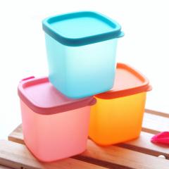多功能冰箱微波炉储物盒 中号保鲜盒-粉色