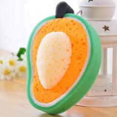 诱人水果加厚海绵百洁布/洗碗布--芒果 便宜的小礼品