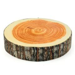 新穎超逼真抱枕-圓形木塊 兒童節創意禮品