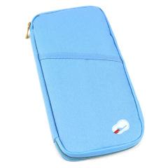 出差旅行便携随身多用途手拿包 杂物旅行收纳包(蓝色)
