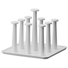 時代良品超簡約實用杯子瀝水杯架 杯盤-米白色