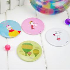 甜美可爱韩版梳妆镜/便携化妆镜