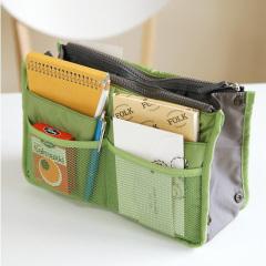 韓版時尚加厚雙拉鏈多功能包中包 隨手外出旅行收納包-綠色