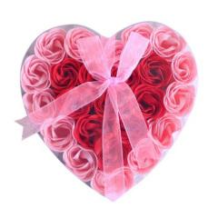 浪漫爱心玫瑰香皂花--24朵花