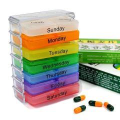 卡秀超实用创意28格小抽屉一周药盒