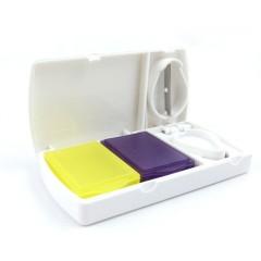出差旅行便携双彩盒带切片功能药盒