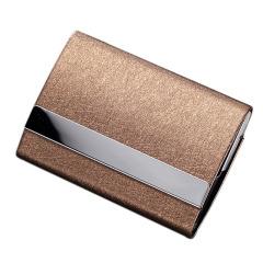 商務百搭時尚不銹鋼仿皮紋名片盒 商務名片夾定制 周年慶送什么禮品