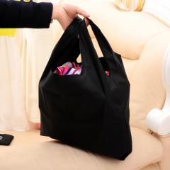 可折叠式宽口环保购物袋--黑色