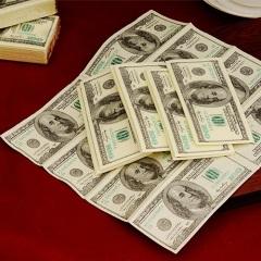 创意环保纸巾 餐巾纸--美金图案(12包装)